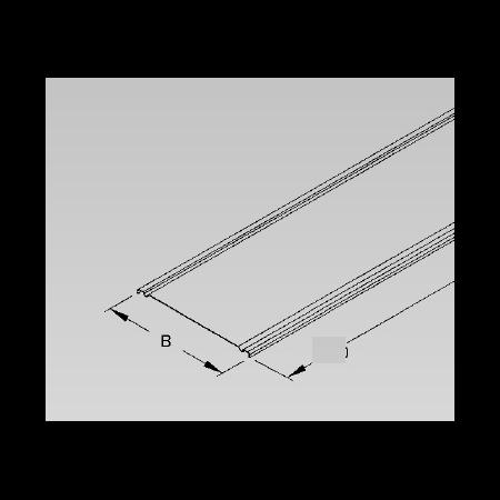 Capac pentru jgheab, 400 mm, unghi de înclinare de 7,5 ° inox Niedax