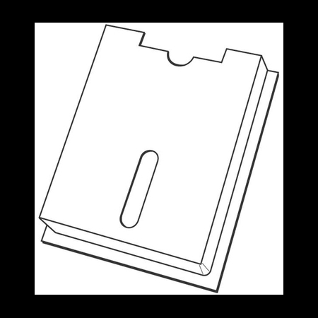 Buzunar tablou electric pentru scheme monofilare 155x255mm General Electric
