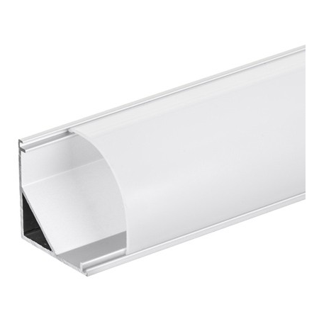 Profil LED unghiular alb AP208 30x30mm Ultralux