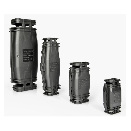 Manson preumplut cu gel pentru conexiune electrica liniara Break 30 - 100x59x34mm Contact Italia