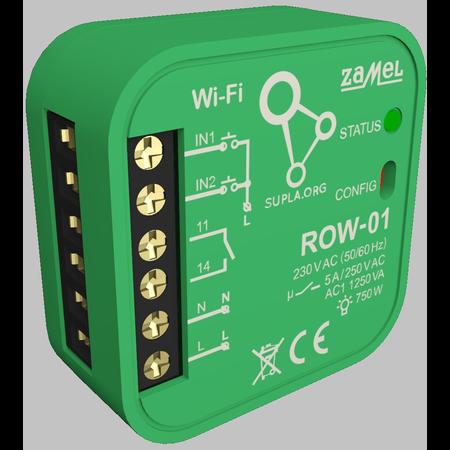 Releu 2 canale WIFI  wireless ON/OFF 2x750w inteligent cu comanda din telefon via internet  Zamel