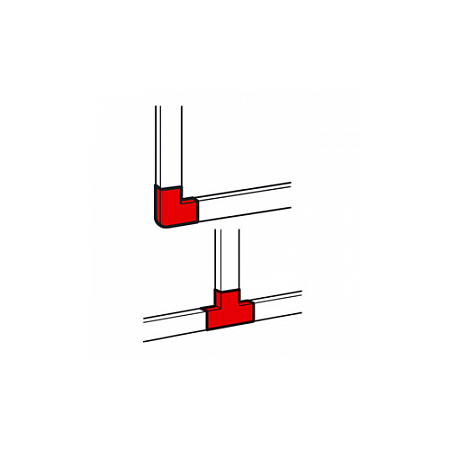 Derivatie plana pentru  profil DLP-S 100x50  Legrand