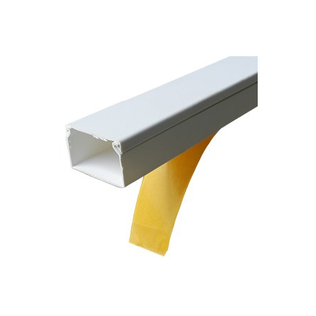 Canal de cablu 15x10 alb cu adeziv Cavi