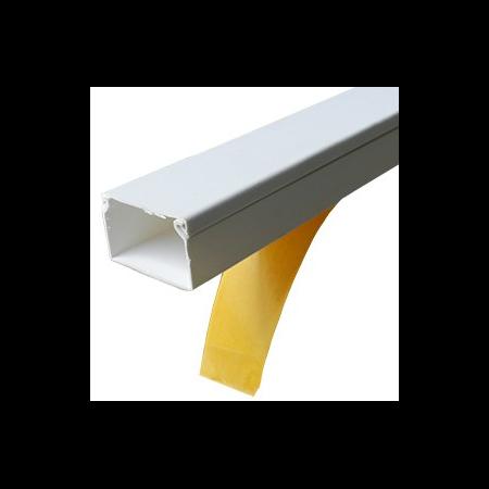 Canal de cablu 20x10 alb cu adeziv Cavi