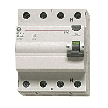 Intrerupator tetrapolar diferential RCCB/BP 4P/AC 25A/0,3MA   General Electric