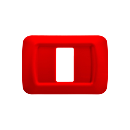 Placa ornament Rosu 1 modul  Gewiss System  Gewiss