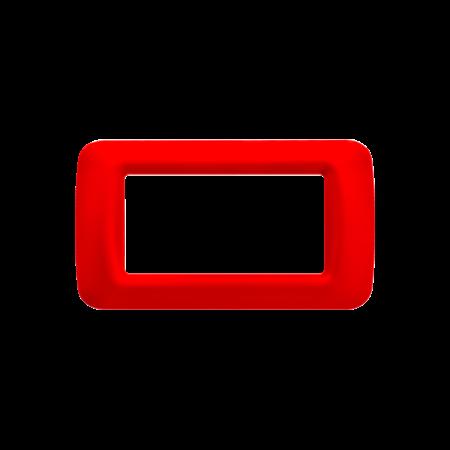Placa ornament Rosu 4 module  Gewiss System  Gewiss