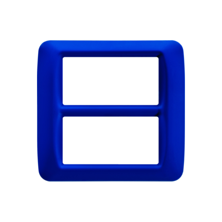 Placa ornament Albastru Jazz 8 (4+4) module Gewiss System  Gewiss