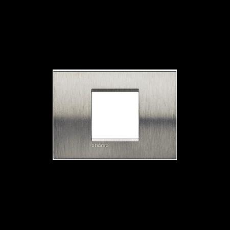 Placa ornament ,2 module, Otel Lucios, living light, BTICINO Bticino