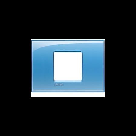 Placa ornament ,2 module, Albastru ,living light, BTICINO Bticino