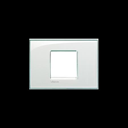 Placa ornament ,2 module, Aquamarine,living light, BTICINO Bticino