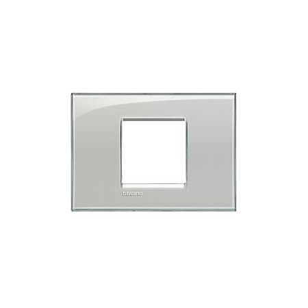Placa ornament ,2 module,Gri Gheata,living light, BTICINO Bticino