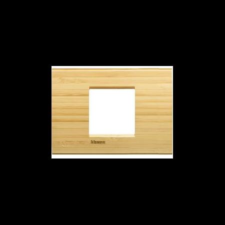 Placa ornament ,2 module,Bambus,living light, BTICINO Bticino