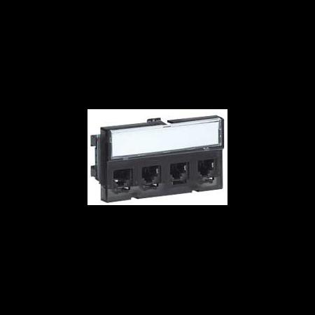 PATCH-PANEL CAT5E FTP 4 CONECTORI RJ45 Legrand