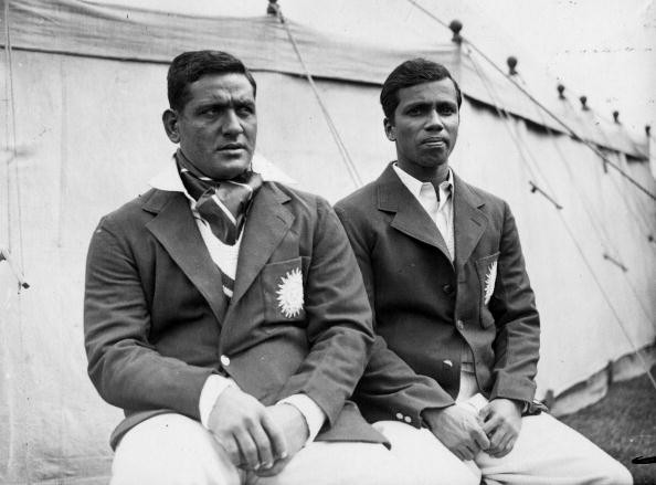 Amir Elahi (seated left) as part of the India team touring England in 1936