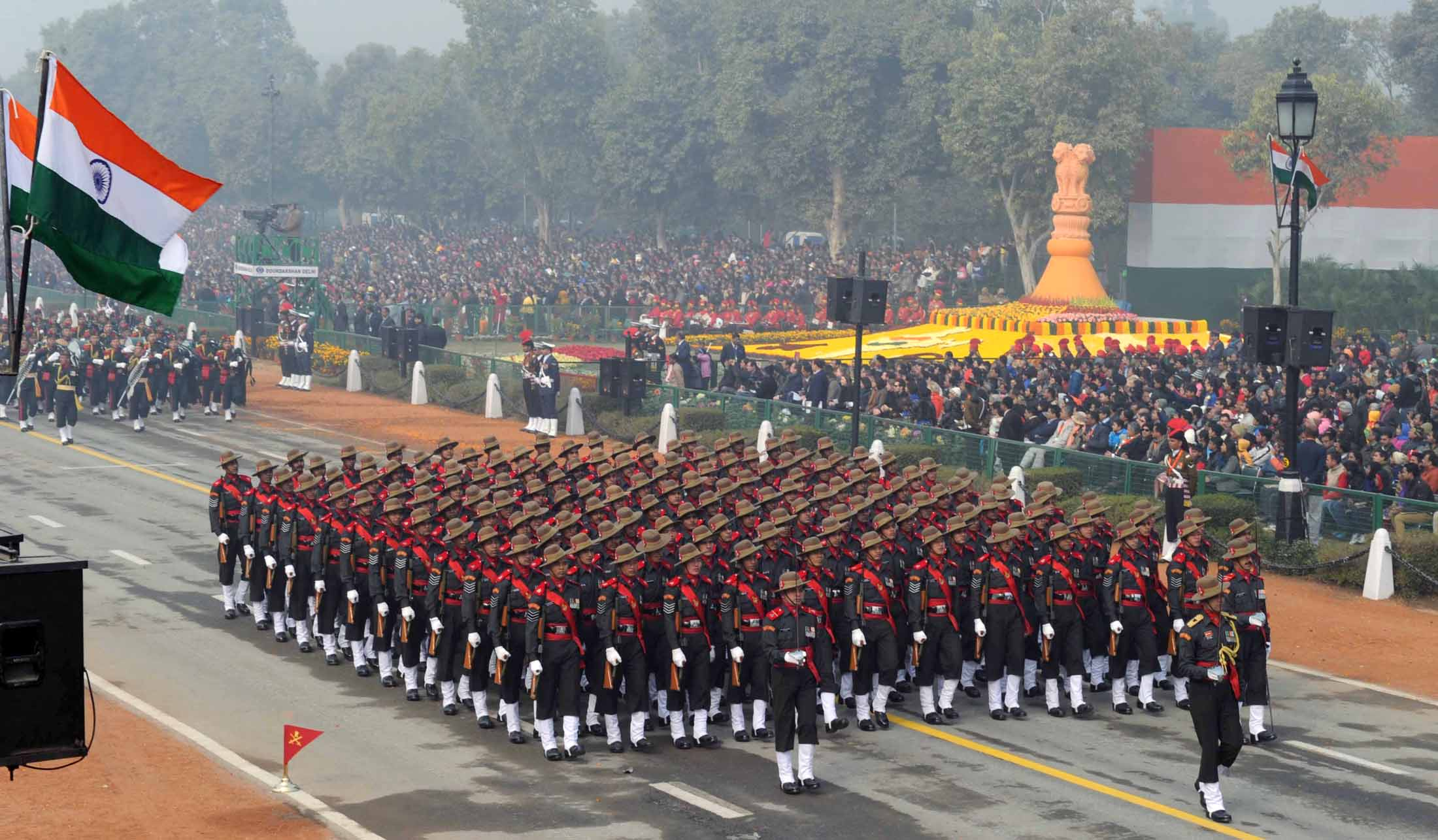 India exhibits military prowess, cultural diversity at grand Republic Day parade