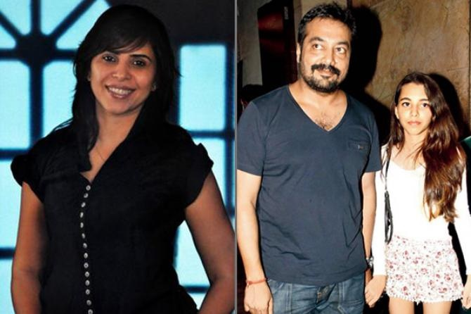 Anurag kashyap with first wife Aarti Bajaj and daughter
