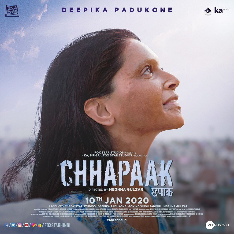 Chhapaak in legal trouble; writer seeks criminal action against Deepika Padukone, producers for copyright violation