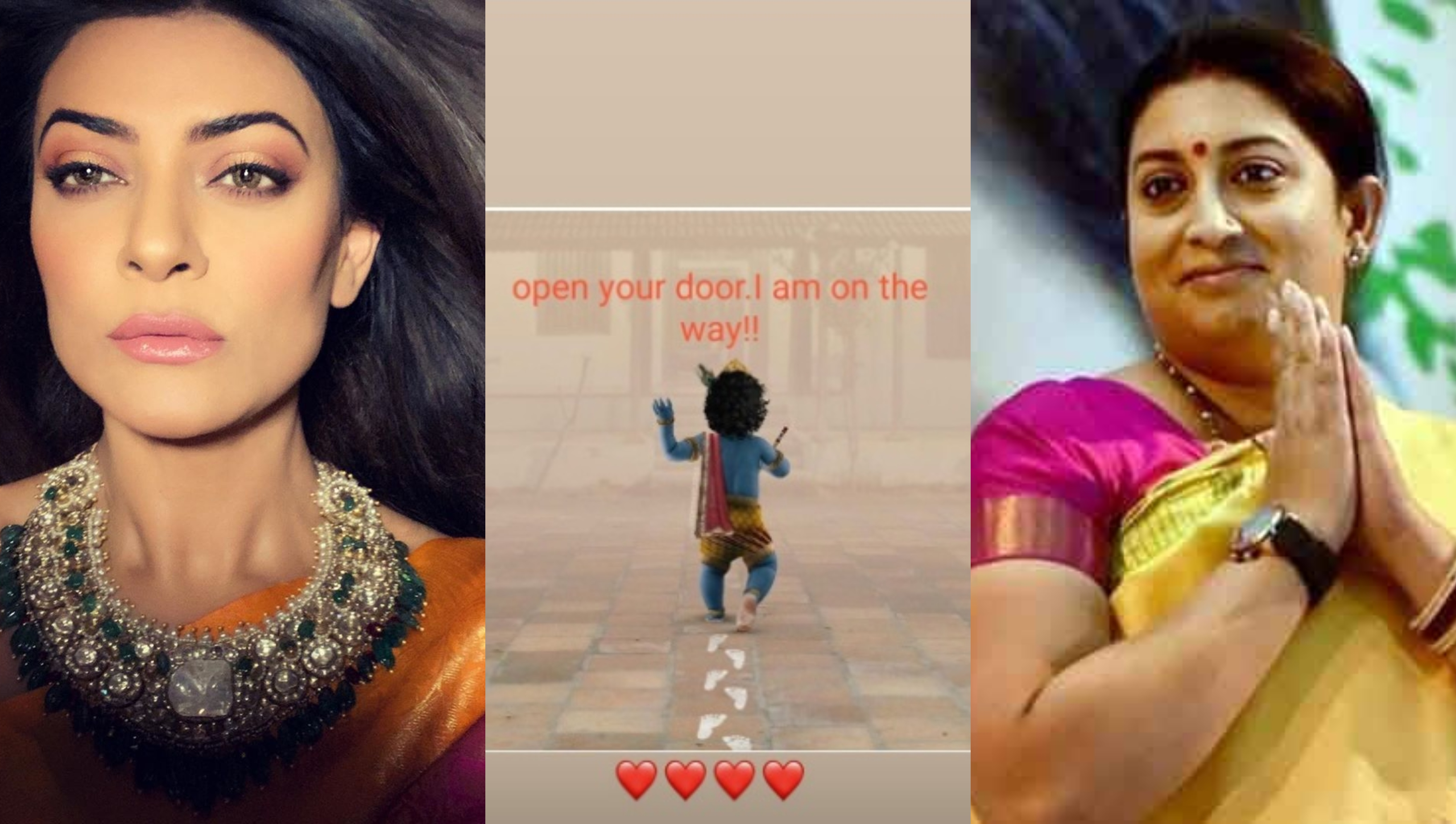 Smriti Irani, Sushmita Sen and others wish Janmasthami in an adorable way