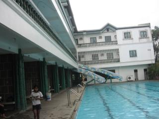 residential rooms and swimming pool