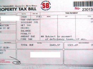 2008 Property tax