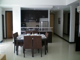overview of dining/kitchen/entrance