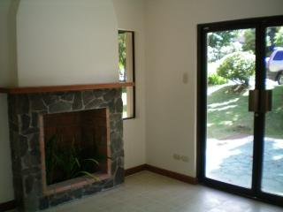 receiving lounge with feature fireplace