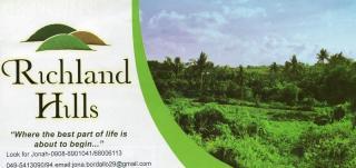 RICHLAND HILLS at Silang, Cavite