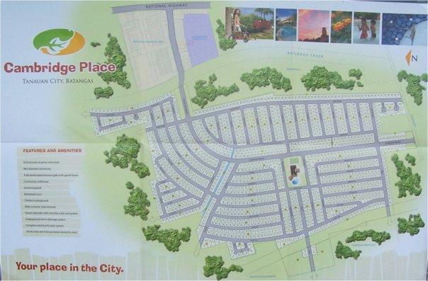 Cambridge place. map