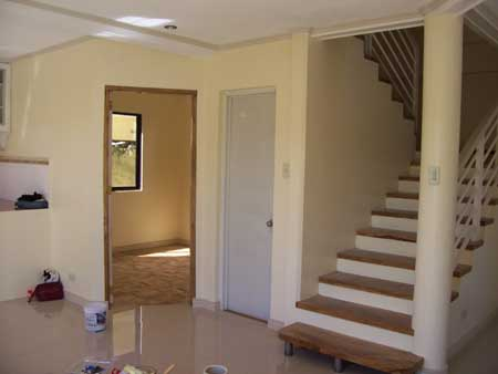 living area from front door
