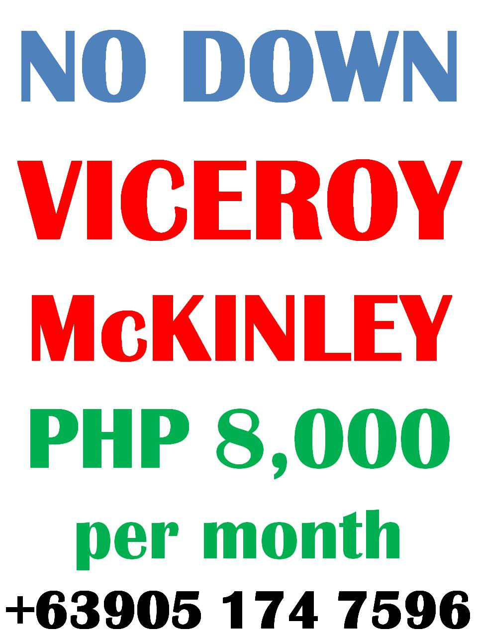 Viceroy McKinley Hill  No DOWNPAYMENT PROMO