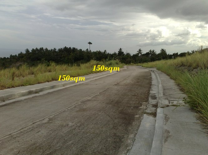 The sizes of the lots ranges from 150 to 300 square meters. At  P 7,900/sq.m.Terms of payment; 20% downpayment, 30% discount on or before 7 days from Reservation date. 80% Balance; 2 years to pay free interest. covered with 24 PDC