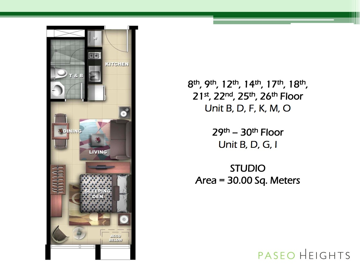 typical floor plan - Paseo Heights