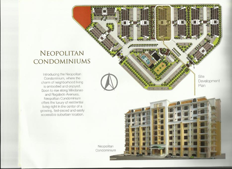 Own a Studio Unit, 1-BR or 2-BR @  The NEOPOLITAN CONDOMINIUMS,  Neopolitan Business Park, Greater Lagro (Fairview), Quezon City  HLURB License To Sell No. 29251  Exclusively Marketed by the  ASIAN PACIFIC REALTY & BROKERAGE CORPORATION.