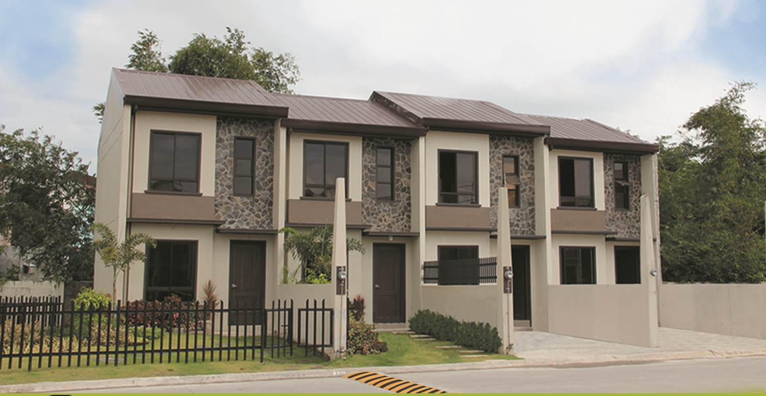 Townhouse exterior design philippines front design for Townhouse design in the philippines