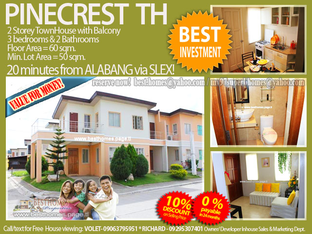 Pinecrest TH in Carmona Estates