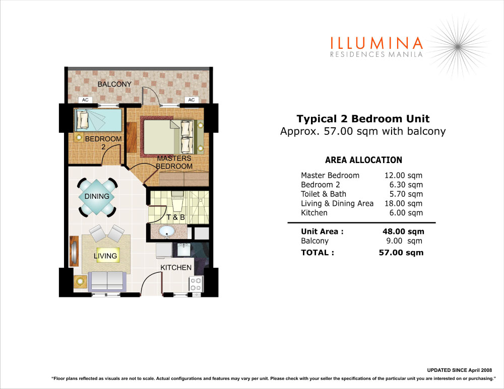 2BEDROOM UNIT LAYOUT