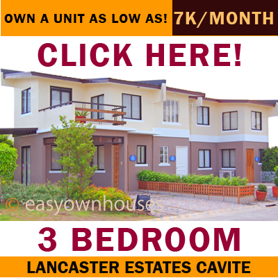 Affordable townhouse for Sale, Alice model at Lancaster Estates Cavite