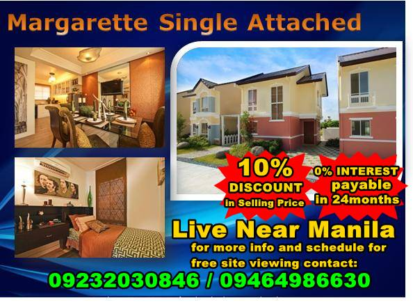 Margaretee House and Lot with linear Park PHP16k monthly