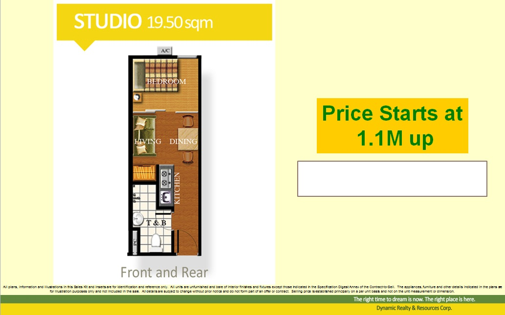 Studio Unit 20 sqm.