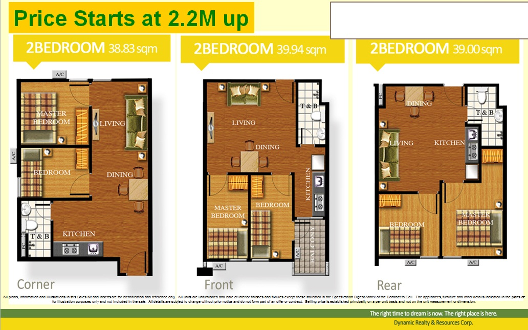 2 bedroom unit 40sqm