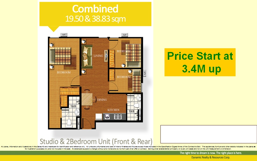 3 Bedroom 60sqm