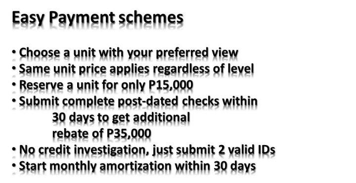 Easy Payment Schemes
