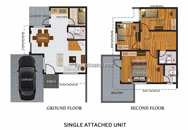 Single Attached Floor Plan