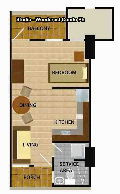 Studio Flr Plan-Wodcrest RCndo