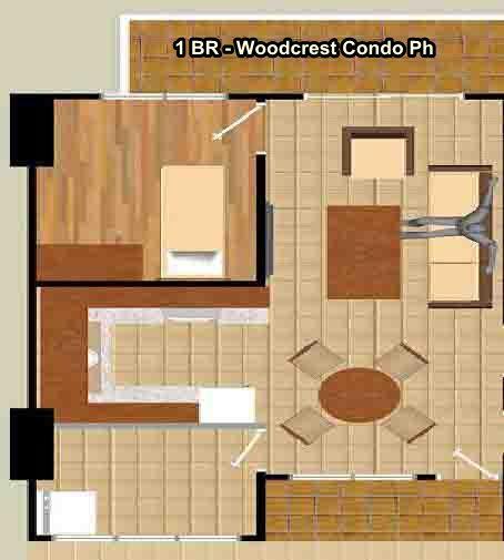 1BR-Flr Woodcrest R/Condo