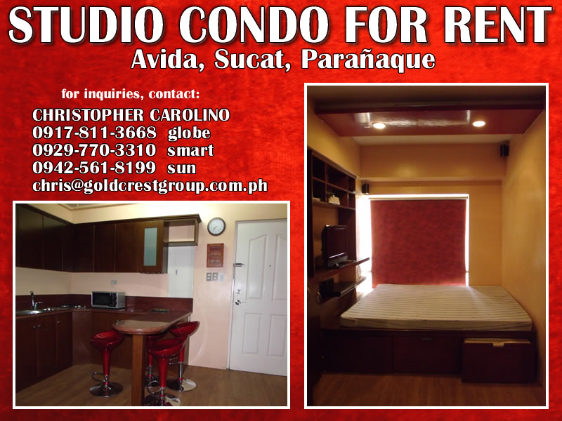 condo for rent avida towers sucat paranaque