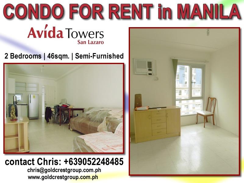 Condo For Rent Avida Towers San Lazaro Manila