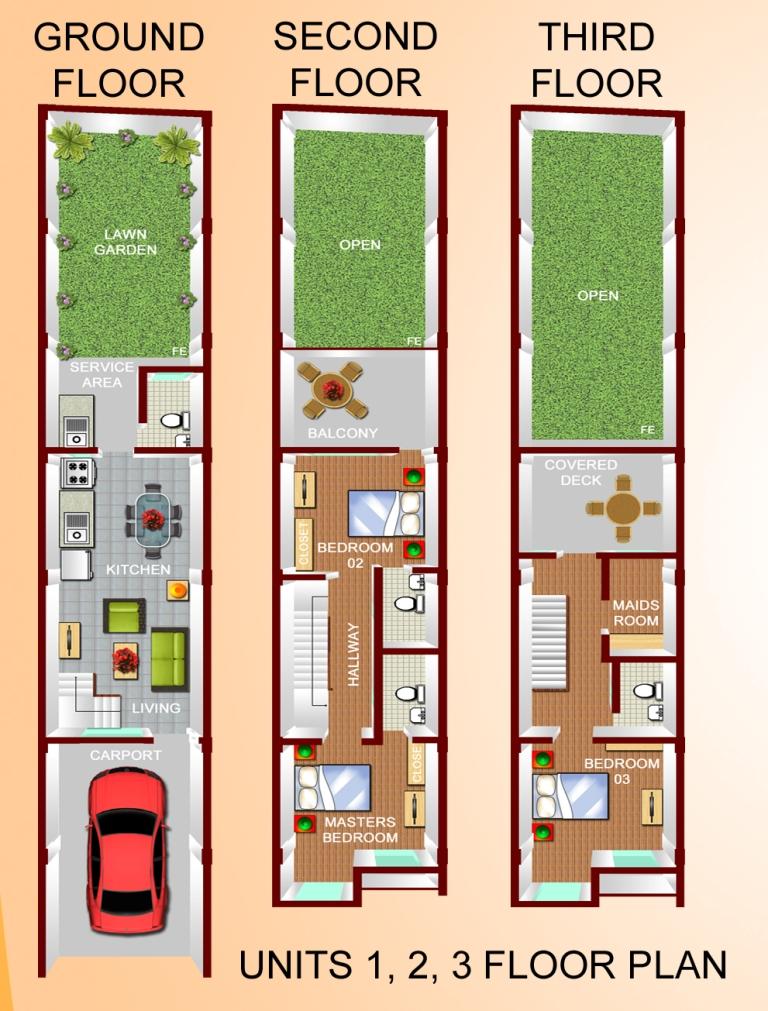 Floor Plans (Units 1, 2 & 3)