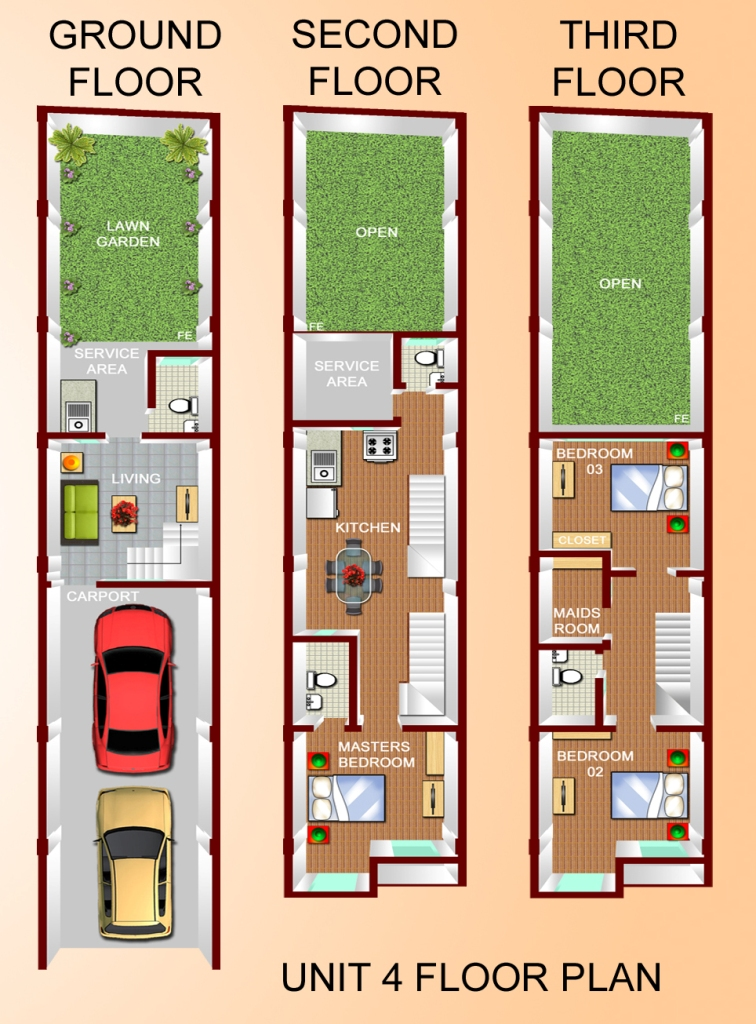 Floor Plan (Unit 4)